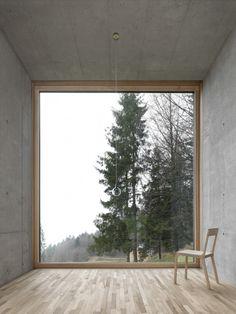 Oskar Leo Kaufmann - House R, Schnepfau 2012 (prev). Via, photos (C) Adolf Bereuter. Architecture Design, Window View, Window Wall, Attic Window, Windows And Doors, Big Windows, Shop Windows, My Dream Home, Future House