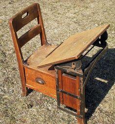 Antique Children's School Desk