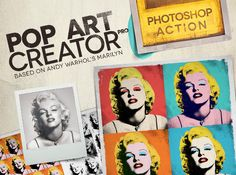 Check out POP ART Creator PRO - PS Action by www.twitter.com/thealika on Creative Market
