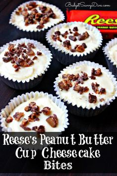 This is the perfect recipe for you if you are a fan of peanut butter, chocolate, and cheesecake -Reese's Peanut Butter Cup Cheesecake Bites Recipe