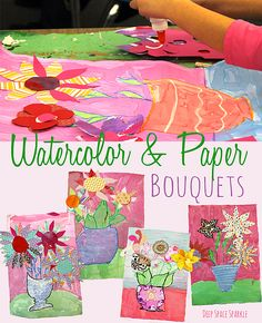 Watercolor-&-Paper-Bouquet-Art-Project