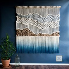 Xxl macrame wall hanging large woven wall art large 70 x 65 wall tapestry high tops