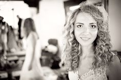 LOVE her veil!   Beautiful California Wedding: Christina & Paul - The Brides Cafe- Photography:  Brent Van Auken