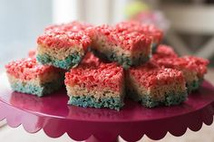 For all the patriotic holidays—and any other time you want to celebrate the red, white and blue—you can't go wrong with these easy-to-make RICE KRISPIES TREATS®.