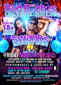 Tonight MARCH 6TH | Bad B**ches ONLY STT EDITION @ ARIANS ENTERTAINMENT CENTER #StThomas #USVI
