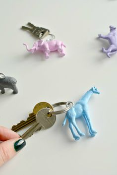 burkatron: diy | animal keyrings