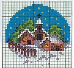 схемы вышивки рождество церковь: 11 тыс изображений найдено в Яндекс.Картинках Cross Stitch House, Xmas Cross Stitch, Cross Stitch Christmas Ornaments, Cross Stitch Cards, Christmas Embroidery, Christmas Cross, Diy Christmas, Cat Cross Stitches, Cross Stitching