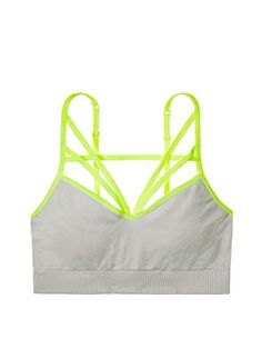 Victorias Secret PINK Seamless Strappy Bralette Small 32CD Light Grey *** BEST VALUE BUY on Amazon