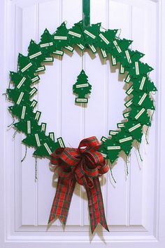 AWESOME IDEA haha. Pine tree air freshener Christmas wreath by Chica and Jo, via Flickr