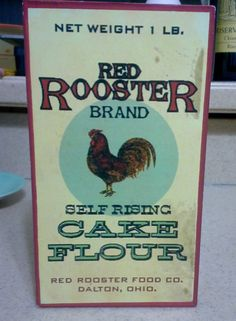 Primitive Red Rooster Brand Advertising Box, Primitive Kitchen Decor, Country Kitchen, Rustic Kitchen, Country Home Decor, Rooster Decor by Lalecreations on Etsy