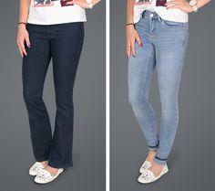 Bootcut- oder Skinnyjeans: Wer häufig unsicher ist, welche Jeans der eigenen Figur am meisten schmeichelt, findet hier wertvolle Tipps.