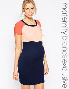 Mama.licious | Mamalicious Color Block T-Shirt Dress at ASOS