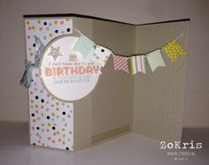 Extra long flip card with the Circle Thinlit Card Die - ZoKris