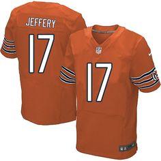 Nike Chicago Bears Alshon Jeffery Jersey Men Orange #17 Alternate NFL Jerseys Sale