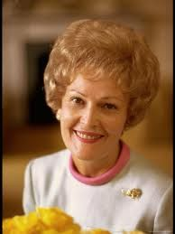 Pat Nixon. I don't know why, but she always seemed so sad even when smiling. I hope I am wrong.