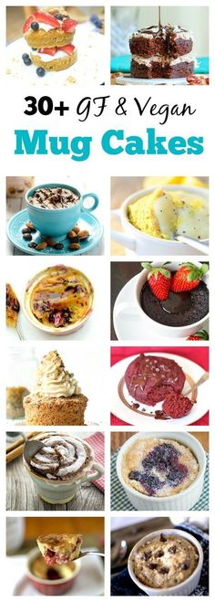 Gluten free mug cakes, these are so easy to make and fun to eat!