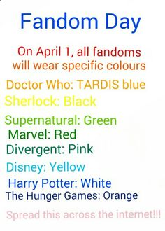 Spread this like a wildfire!!! Would you wear your main fandom?