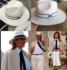 1a1daae2 Hat Fedora Wool Melania Trump Style Large Brim White Cap Elegant Vintage  Women #VFSHats #