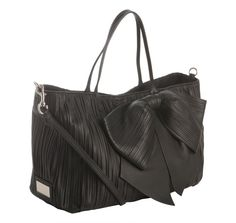 Valentino-pleated leather bow tote, drool:)
