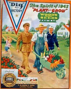 Vintage Advertisements, Vintage Ads, Vintage Posters, Vintage Food, Vintage Kitchen, Dig For Victory, Ww2 Posters, Victory Garden, Nostalgia