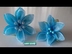 Fabric Flowers, Paper Flowers, Kanzashi Flowers, Boutique Hair Bows, Diy Hair Bows, Organza Ribbon, Flower Making, Felt Crafts, Diy Hairstyles