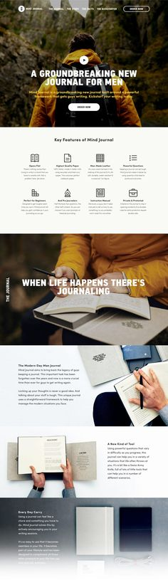MindJournal (More web design inspiration at topdesigninspiration.com) #design…