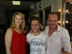 Follicle brand ambassador Singer and actor Danie Putter with owners Cornel and Walter