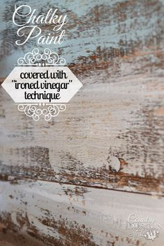 Have you tried chalky paint with ironed vinegar aging technique? I did a tutorial testing and here's the results I found. | Country Design Style | http://countrydesignstyle.com