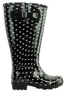 07018e06d18 Lily Women s Extra Wide Calf Rain Boot (Black Polka Dot) - Final Sale -  Clearance Final Sale Boots