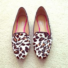 Animal print loafers In great used condition. Calf hair loafers. ⛔️COMMENTS ABOUT TRADES AND PAYPAL WILL BE IGNORED ⛔️ Banana Republic Shoes Flats & Loafers
