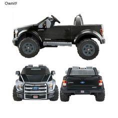 Battery Powered Truck Kids 12 Volt Ride On Power Wheels Fisher Price 12-v F150 #FisherPrice