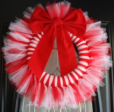 Candy Cane Christmas Wreath :)