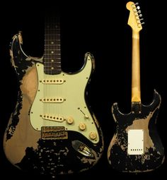 Reliced 60's Black Stratocaster