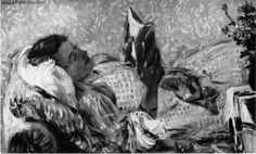 A Reading Girl -  Lovis Corinth (German, 1858-1925)