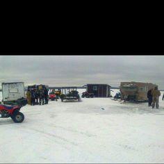 Shanty town: ice fishing paradise