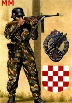Croatian paratrooper WWII - pin by Paolo Marzioli