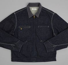 DUBBLEWORKS: Lined Denim Jacket, Indigo