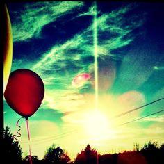 Sunset & balloons