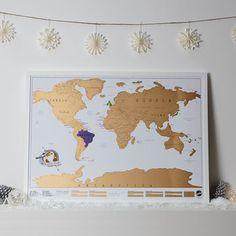 I want! Scratch Map ® Original World Map Poster