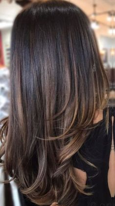 Long Wavy Ash-Brown Balayage - 20 Light Brown Hair Color Ideas for Your New Look - The Trending Hairstyle Brown Hair Balayage, Brown Ombre Hair, Balayage Brunette, Ombre Hair Color, Light Brown Hair, Hair Color Balayage, Brown Hair Colors, Brunette Hair, Cool Hair Color