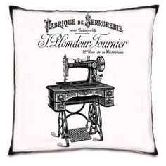 French Label Antique Sewing Machine