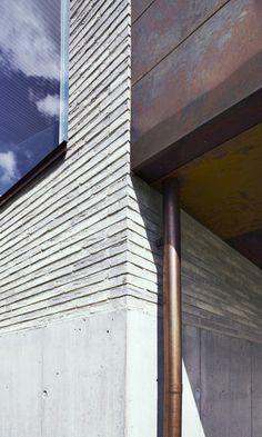 Petersen Kolumba bricks and copper downpipe Brick Masonry, Concrete Bricks, Brick Facade, Brick In The Wall, Concrete Architecture, Architecture Details, Facade Design, House Design, Kolumba Museum