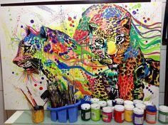 Onça pintada art pop