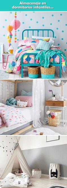 Almacenaje en dormitorios infantiles. Habitaciones infantiles. Ideas de almacenaje para dormitorios infantiles. Espacio de guardado en habitaciones infantiles.