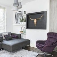 Be inspired by this stunning semi-detached house in Nottingham Room Paint Colors, Paint Colors For Living Room, Semi Detached, Detached House, Blue Country Kitchen, Modern White Living Room, Room Planning, Living Room Pictures, Living Room With Fireplace