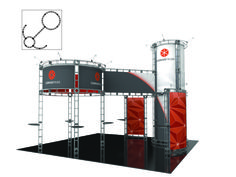 CORVUS - 20 x 20 Island- #Trade#show #Displays #Backwall Call us today for a quote. 1-866-7ULTIMA (1-866-785-8462)