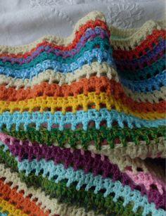 Tus Manos y las Mias: Manta a crochet - ISABELLA -