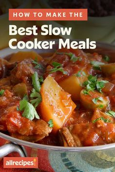 """How To Make the Best Slow Cooker Meals   """"To make sure all that hands-off cooking turns out just the way you want it, I'll share our top 10 tips to help you get the most flavorful dishes from your slow cooker every time."""" #slowcooker #slowcookerrecipes #crockpotrecipes #crockpotdinnerideas Best Slow Cooker, Slow Cooker Chicken, Slow Cooker Recipes, Crockpot Recipes, Cooking Recipes, Dump Meals, Carrots And Potatoes, Pot Roast, Cooking Time"""