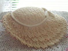 wide brim white lace church hat #millinery #judithm #hats