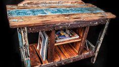 Magazine side table 100% driftwood